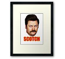 ron swanson scotch Framed Print