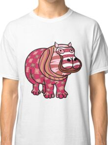 Not so pink hippo Classic T-Shirt
