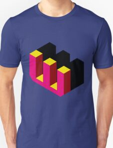 Letter W Isometric Graphic Unisex T-Shirt