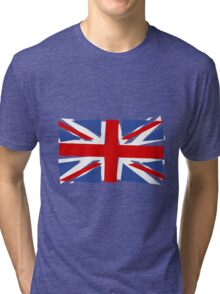 Crazy Union Jack Tri-blend T-Shirt