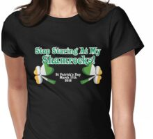 St Patrick's Day Celebrations Shamrock White Variant Womens Fitted T-Shirt