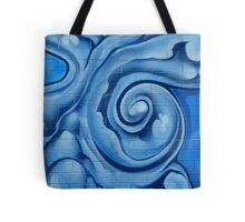 Blue Graffiti Swirls Tote Bag