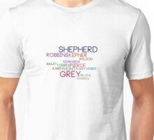 Grey's Names Unisex T-Shirt