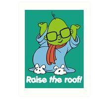 Muppet Babies - Bunsen - Raise The Roof - White Font Art Print
