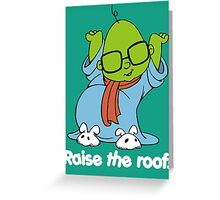Muppet Babies - Bunsen - Raise The Roof - White Font Greeting Card