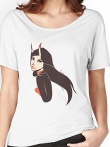 Beautiful Girl with Horns Women's Relaxed Fit T-Shirt
