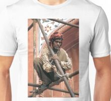Building scaffolding in Delhi, India Unisex T-Shirt