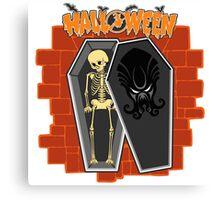 Halloween skeleton Canvas Print