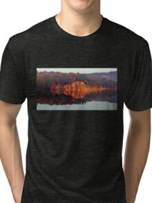 Early Morning Serenity George Lake Tri-blend T-Shirt