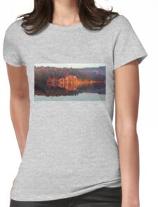 Early Morning Serenity George Lake Womens Fitted T-Shirt