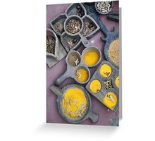 An assortment of spices, Kerala, India Greeting Card