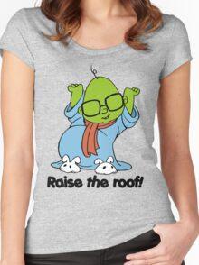 Muppet Babies - Bunsen - Raise The Roof - Black Font Women's Fitted Scoop T-Shirt