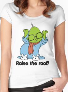 Muppet Babies - Bunsen - Raise The Roof - Black Font Women's Fitted Scoop T-Shirt