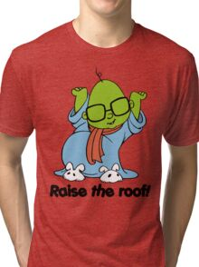 Muppet Babies - Bunsen - Raise The Roof - Black Font Tri-blend T-Shirt