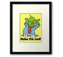 Muppet Babies - Bunsen - Raise The Roof - Black Font Framed Print