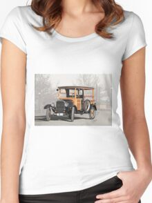 1926 Ford Model T Depot Hack Women's Fitted Scoop T-Shirt
