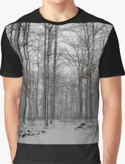 Winter Storm In The Bush Graphic T-Shirt