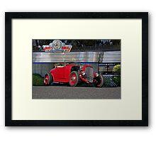1932 Ford 'Berts Diner' Roadster Framed Print