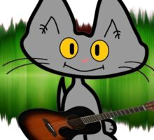 Rock and Roll Cat Sticker