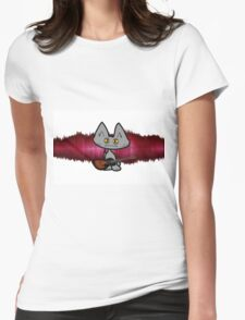 Rock and Roll Cat Womens Fitted T-Shirt