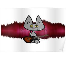 Rock and Roll Cat Poster