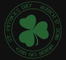 St. Patrick's Day 2016 round, green One Piece - Short Sleeve