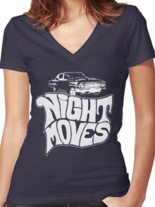 Night Moves Women's Fitted V-Neck T-Shirt