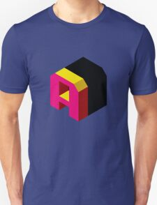 Letter A Isometric Graphic Unisex T-Shirt