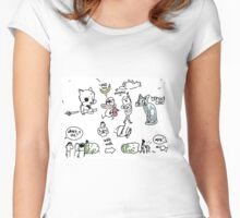 Kate's hospital drawings Women's Fitted Scoop T-Shirt