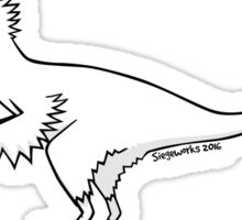 Cartoon Velociraptor Sticker