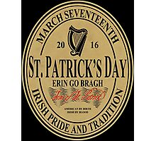 St. Patrick's Day - oval label Photographic Print