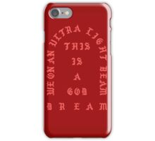 Ultralight Beam - Red iPhone Case/Skin