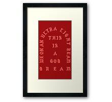 Ultralight Beam - Red Framed Print