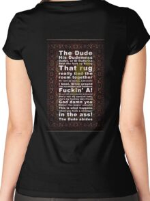 Lebowski Women's Fitted Scoop T-Shirt