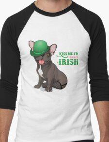 Kiss me I'm French-Irish  Men's Baseball ¾ T-Shirt