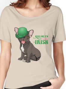 Kiss me I'm French-Irish  Women's Relaxed Fit T-Shirt