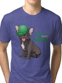 Kiss me I'm French-Irish  Tri-blend T-Shirt