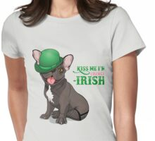 Kiss me I'm French-Irish  Womens Fitted T-Shirt