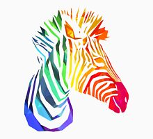 Low-Poly Rainbow Zebra Unisex T-Shirt