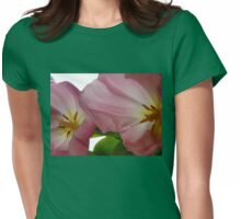 Fading Pink Tulips Womens Fitted T-Shirt