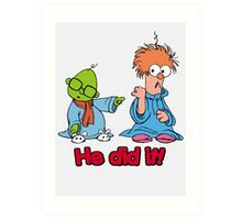 Muppet Babies - Bunsen & Beeker - He Did It! Art Print