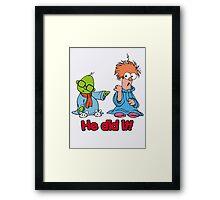 Muppet Babies - Bunsen & Beeker - He Did It! Framed Print