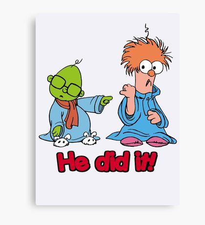 Muppet Babies - Bunsen & Beeker - He Did It! Canvas Print