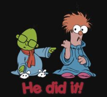Muppet Babies - Bunsen & Beeker - He Did It! Kids Tee