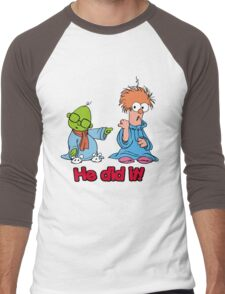 Muppet Babies - Bunsen & Beeker - He Did It! Men's Baseball ¾ T-Shirt
