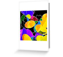 Color Circus Abstract Greeting Card