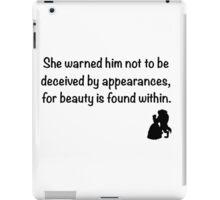 Beauty and the beast iPad Case/Skin