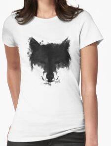 Ink Wolf Womens Fitted T-Shirt