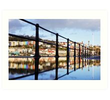 Reflection on Bristol Harbour Art Print