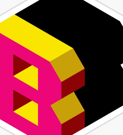 Letter B Isometric Graphic Sticker